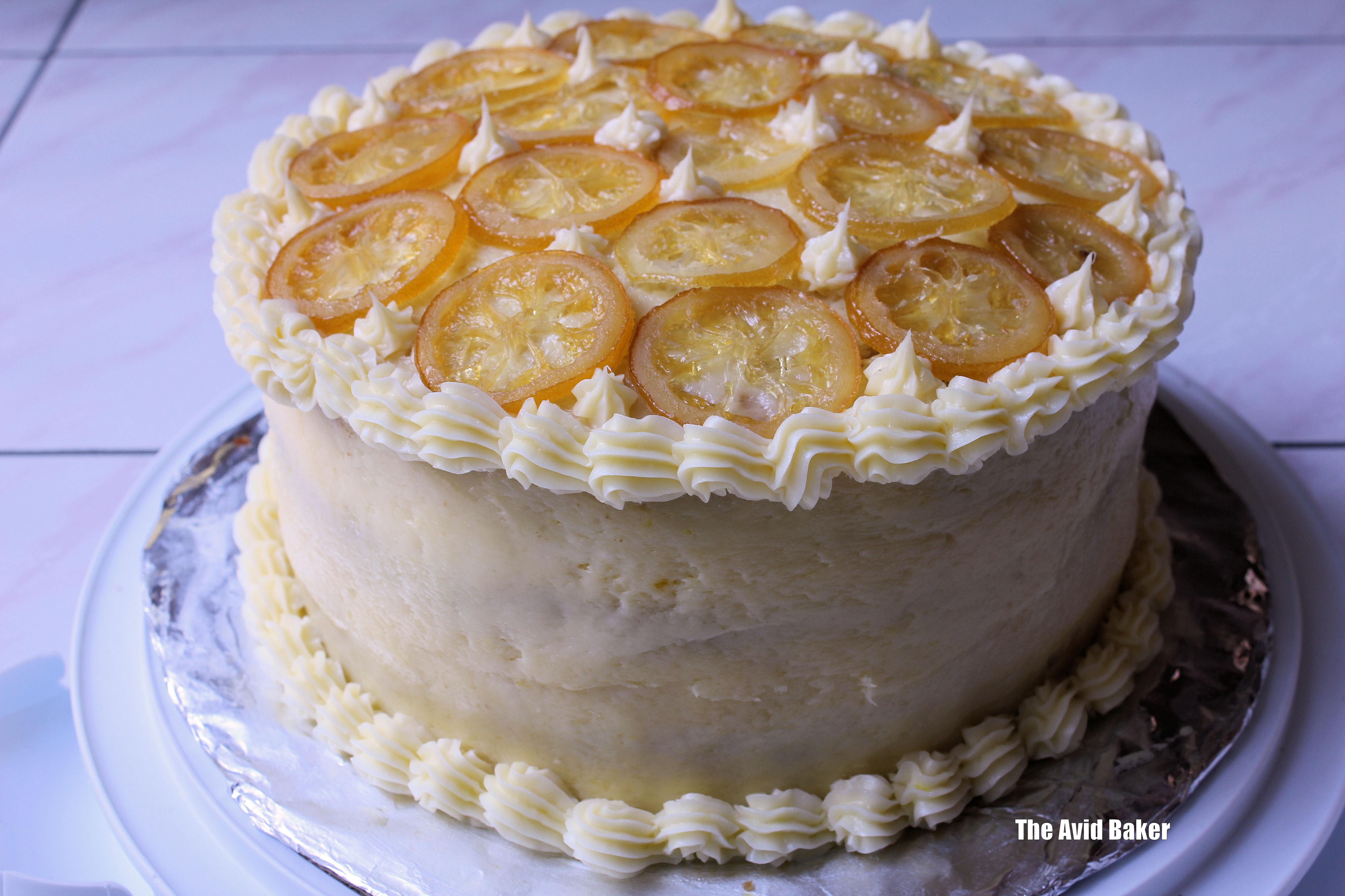 Luscious Lemon Curd Layer Cake | The Avid Baker